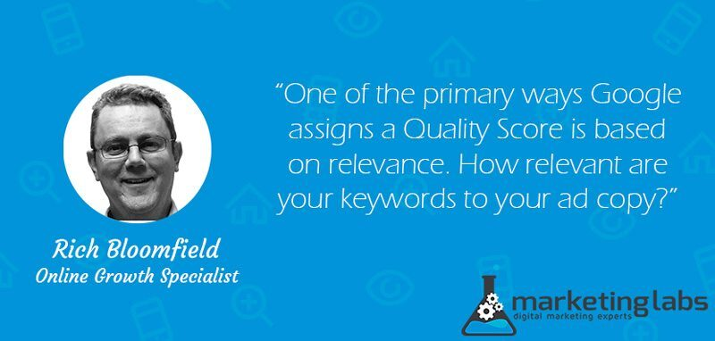 One of the primary ways Google assigns a Quality Score is based on relevance. How relevant are your keywords to your ad copy?