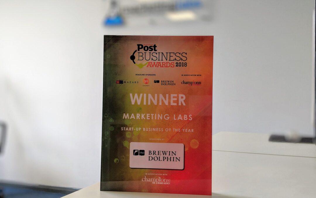 Marketing Labs Scoops Prestigious Nottingham Post Business Award